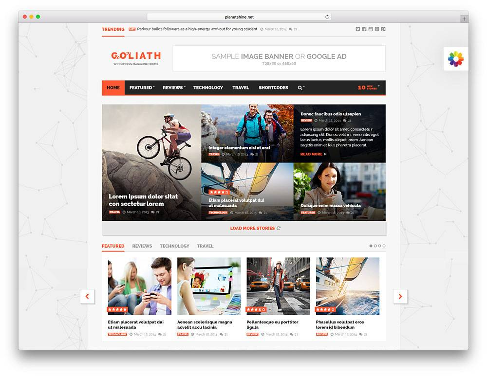 Magazine Template WordPress
