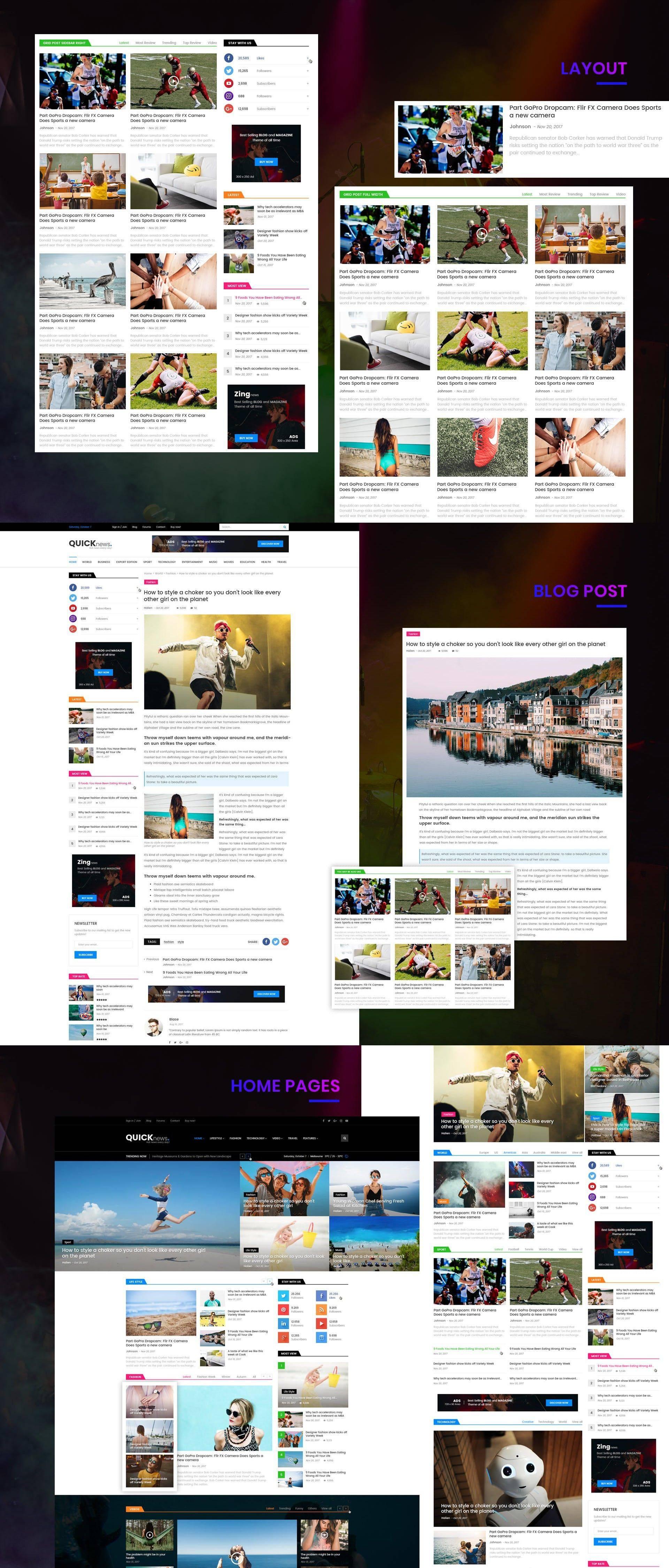 Magazine Websites Templates
