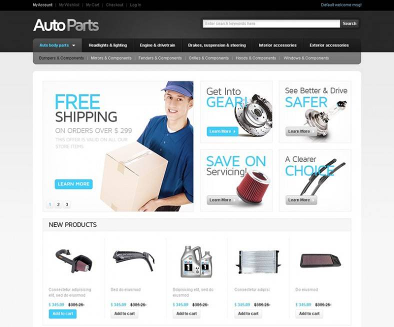 Magento Ecommerce Website Templates