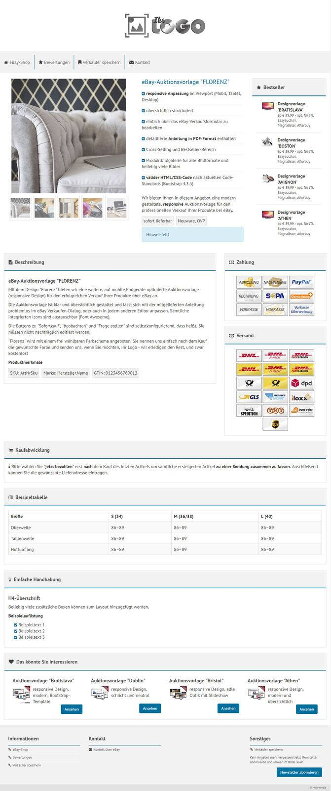 Magnalister Ebay Template Responsive