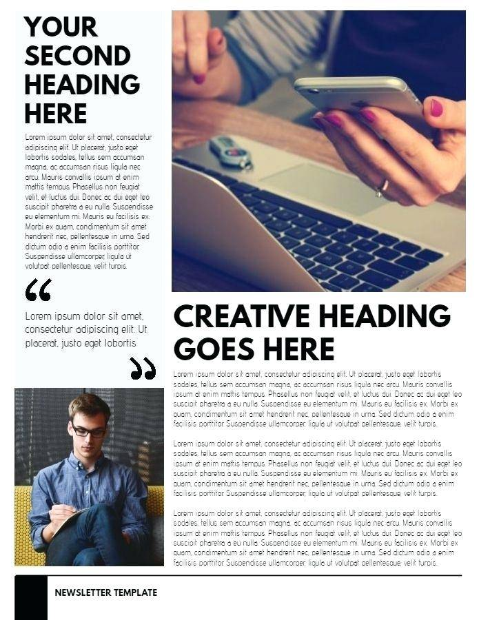 Mailbox Magazine Newsletter Template