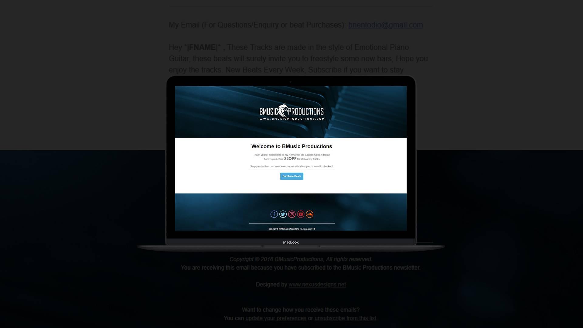 Mailchimp Newsletter Layout