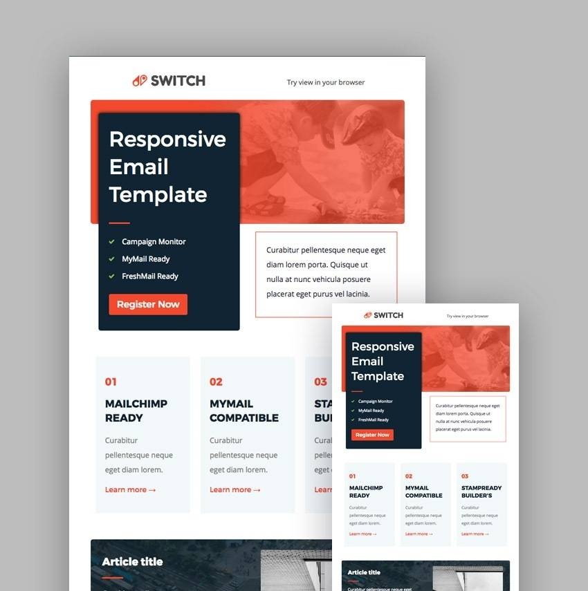 Mailchimp Newsletter Templates Psd