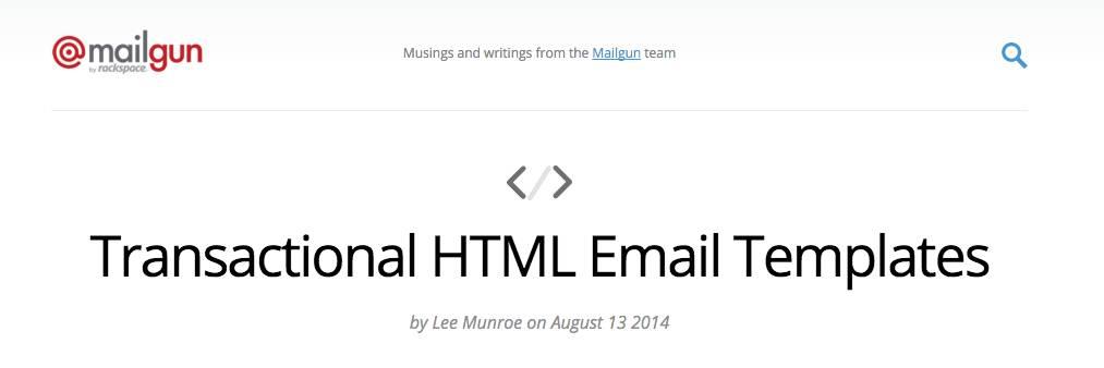 Mailgun Html Email Templates