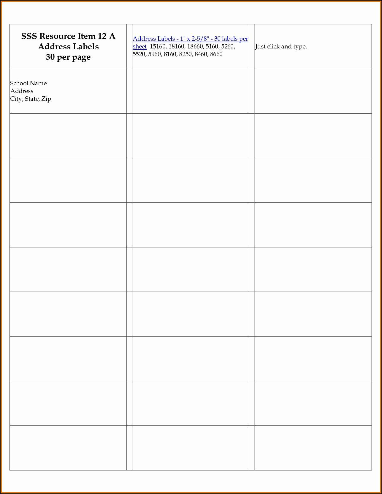 Mailing Label Template Maco