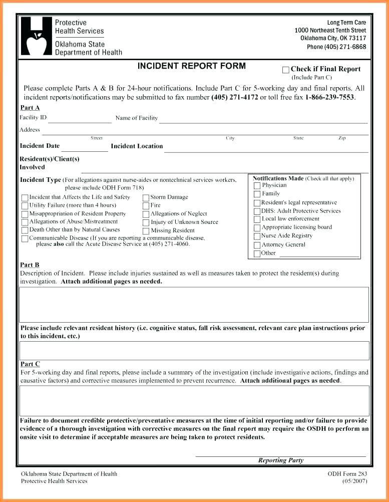 Major Incident Report Template Psd2