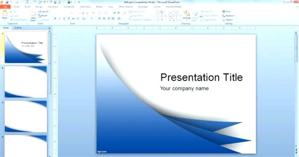 Make Slide Template Powerpoint 2010