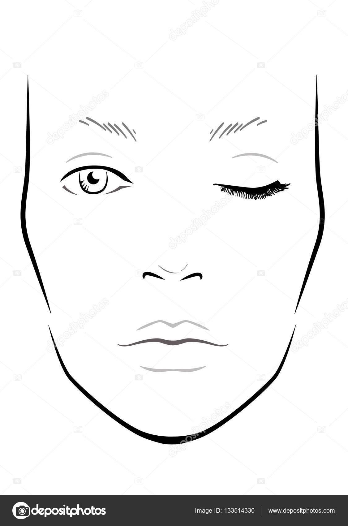 Makeup Face Chart Template