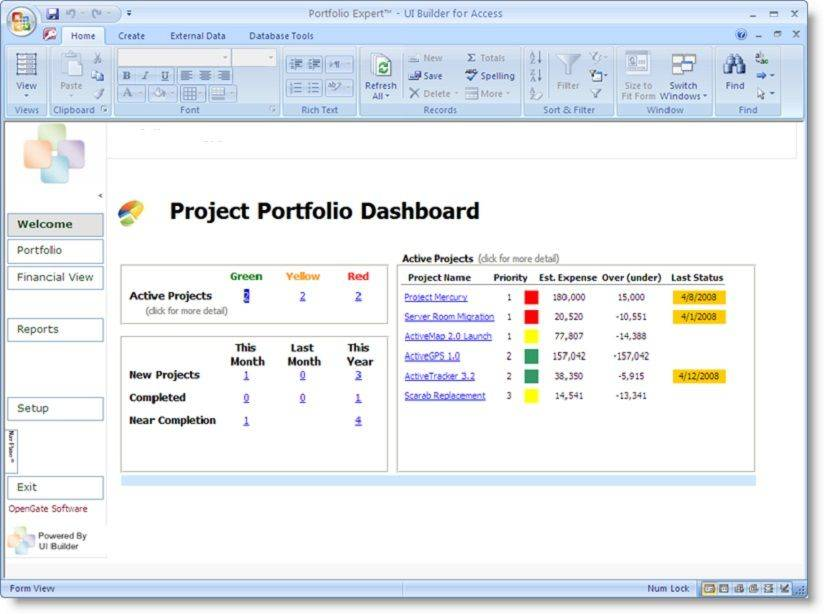 Management Dashboard Report Template