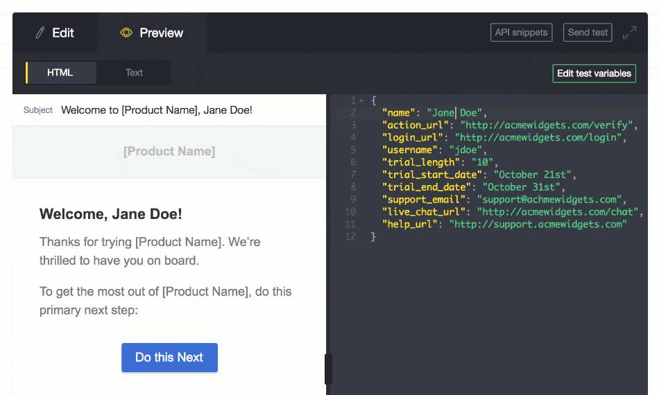 Mandrill Email Template Editor