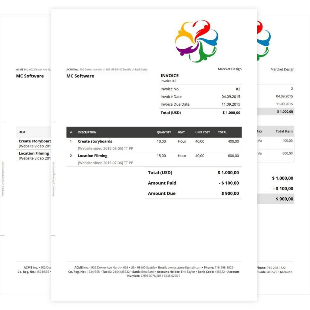 Manual Invoice Template Excel