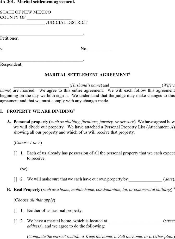 Marital Agreement Template