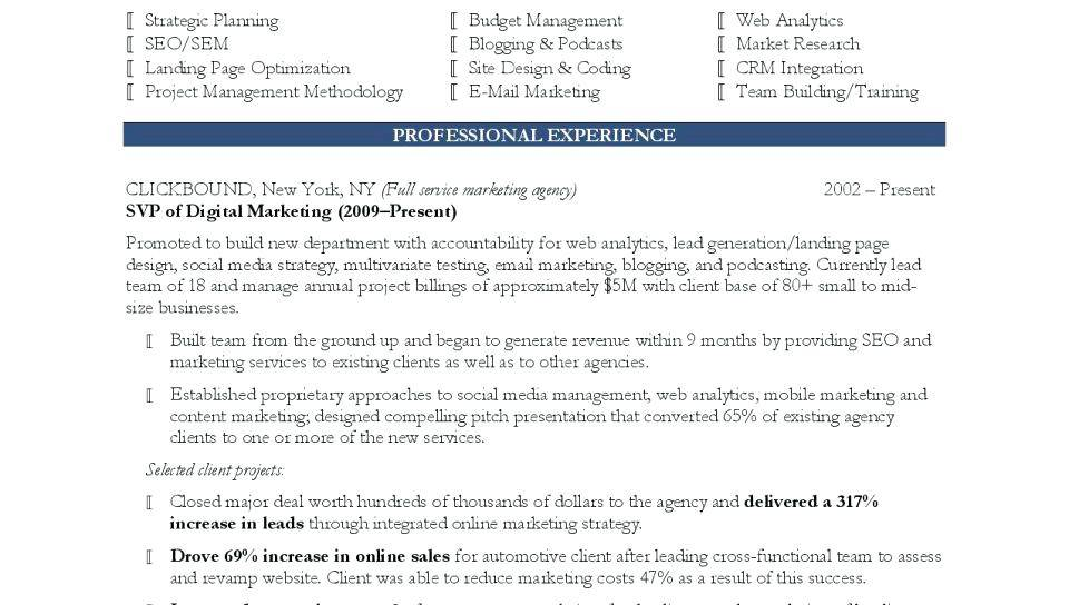 Marketing Manager Resume Templates Word