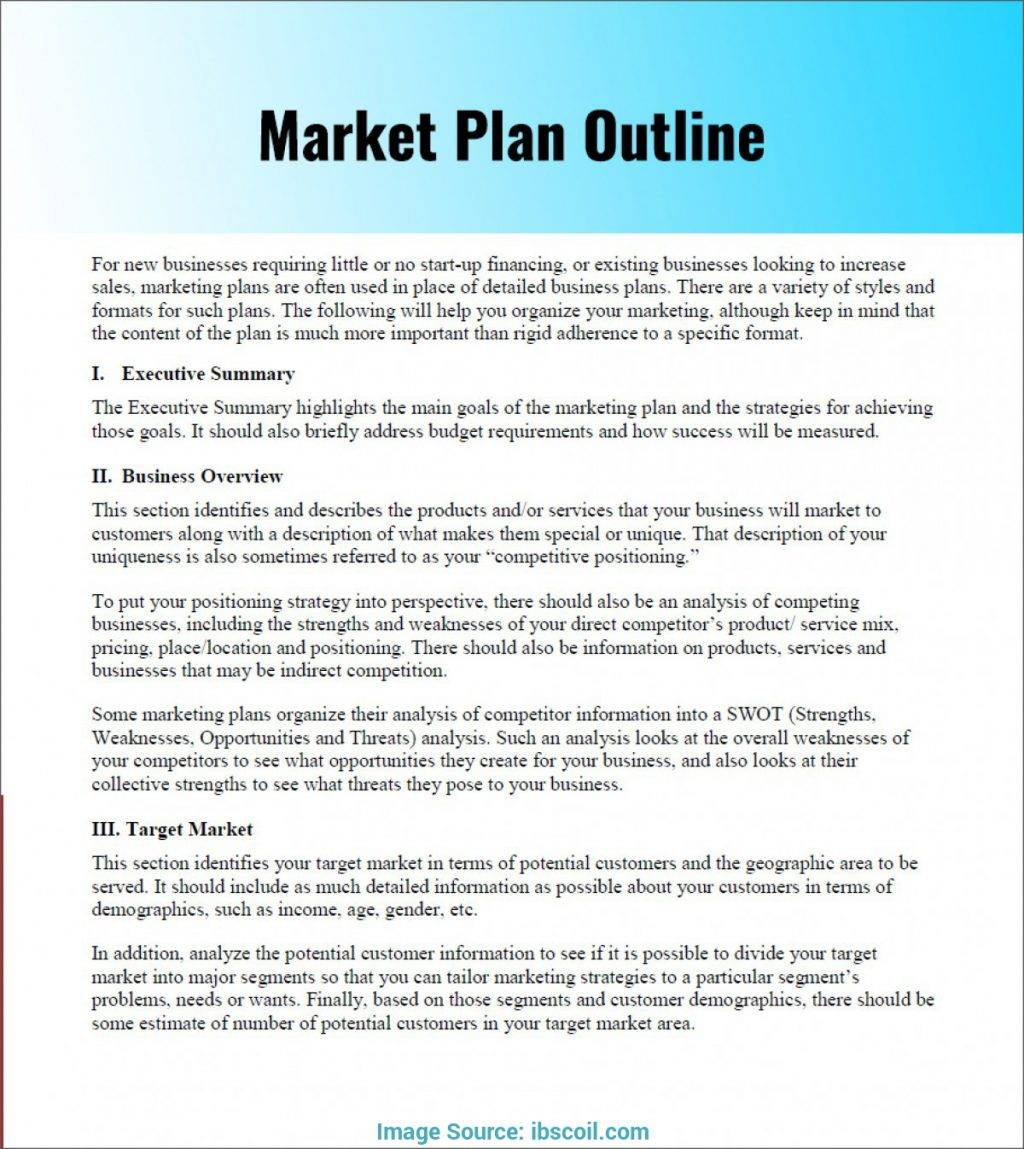Marketing Plan Template Sample