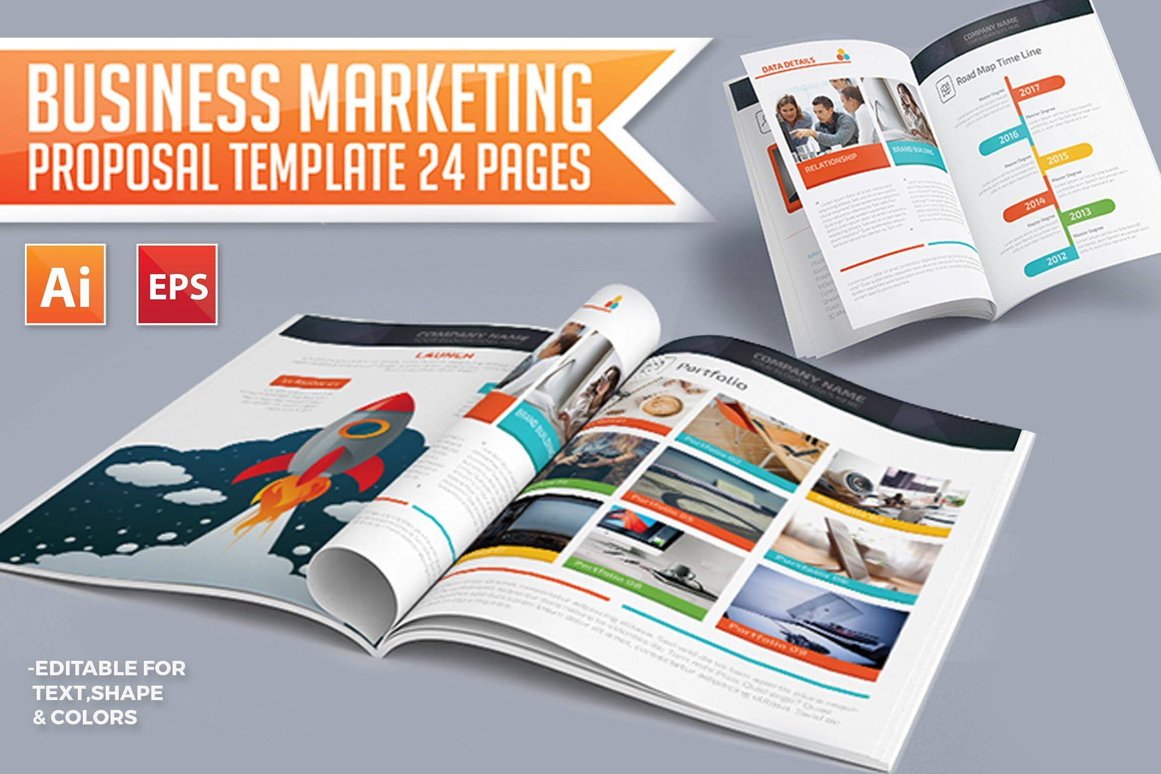 Marketing Proposal Template Pages