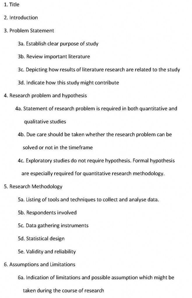 Marketing Research Proposal Template Free Download