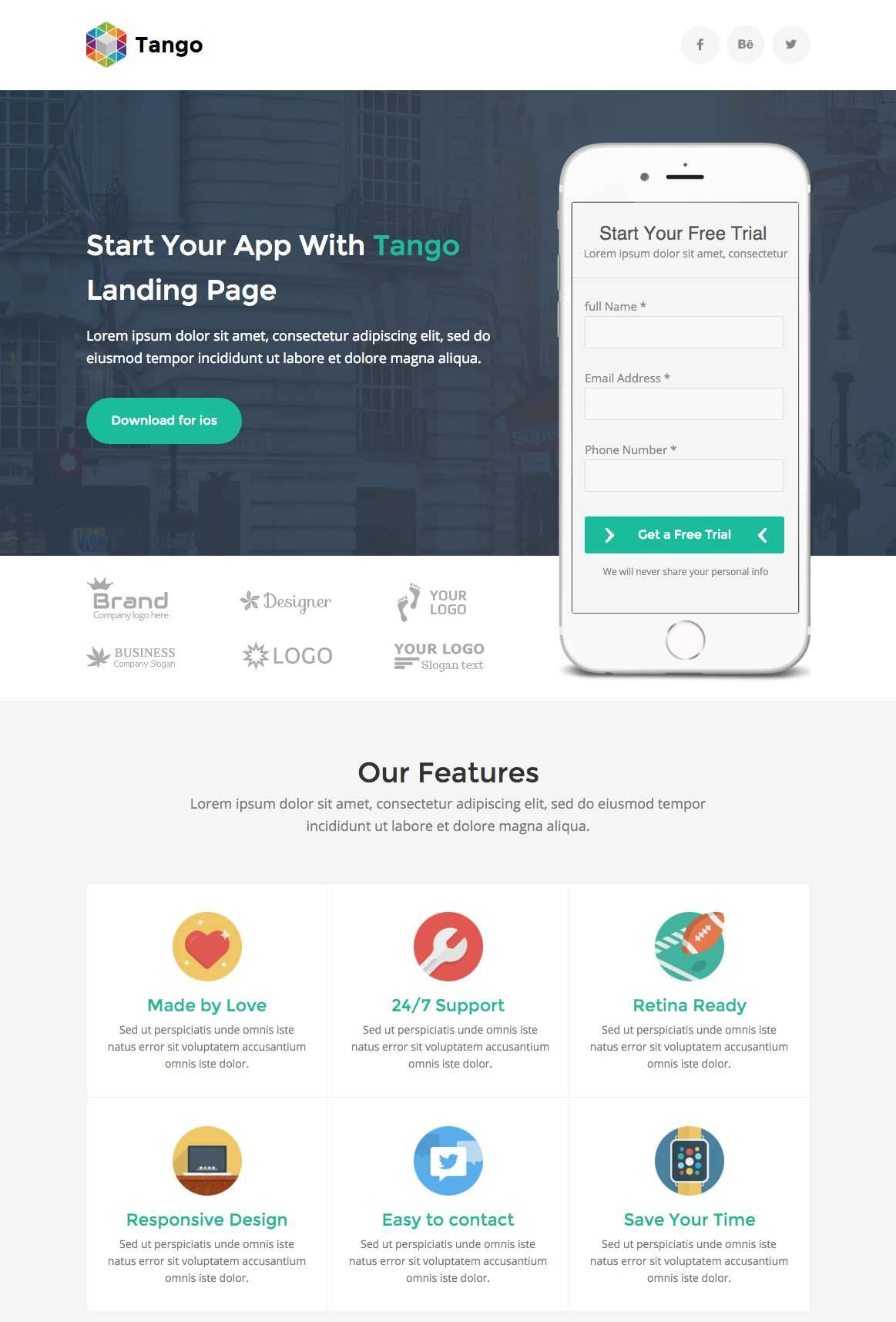 Marketing Unbounce Landing Page Template Free