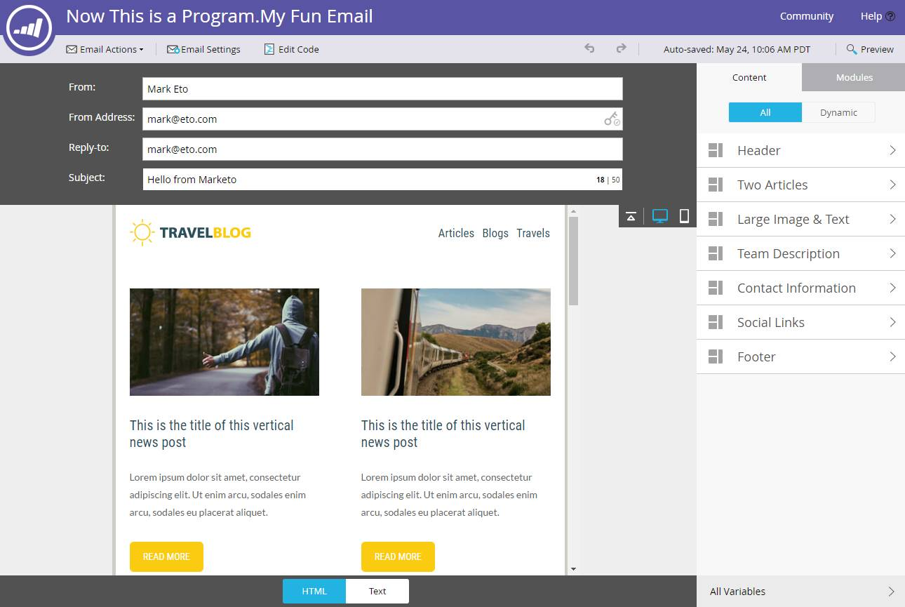 Marketo Email Template Syntax