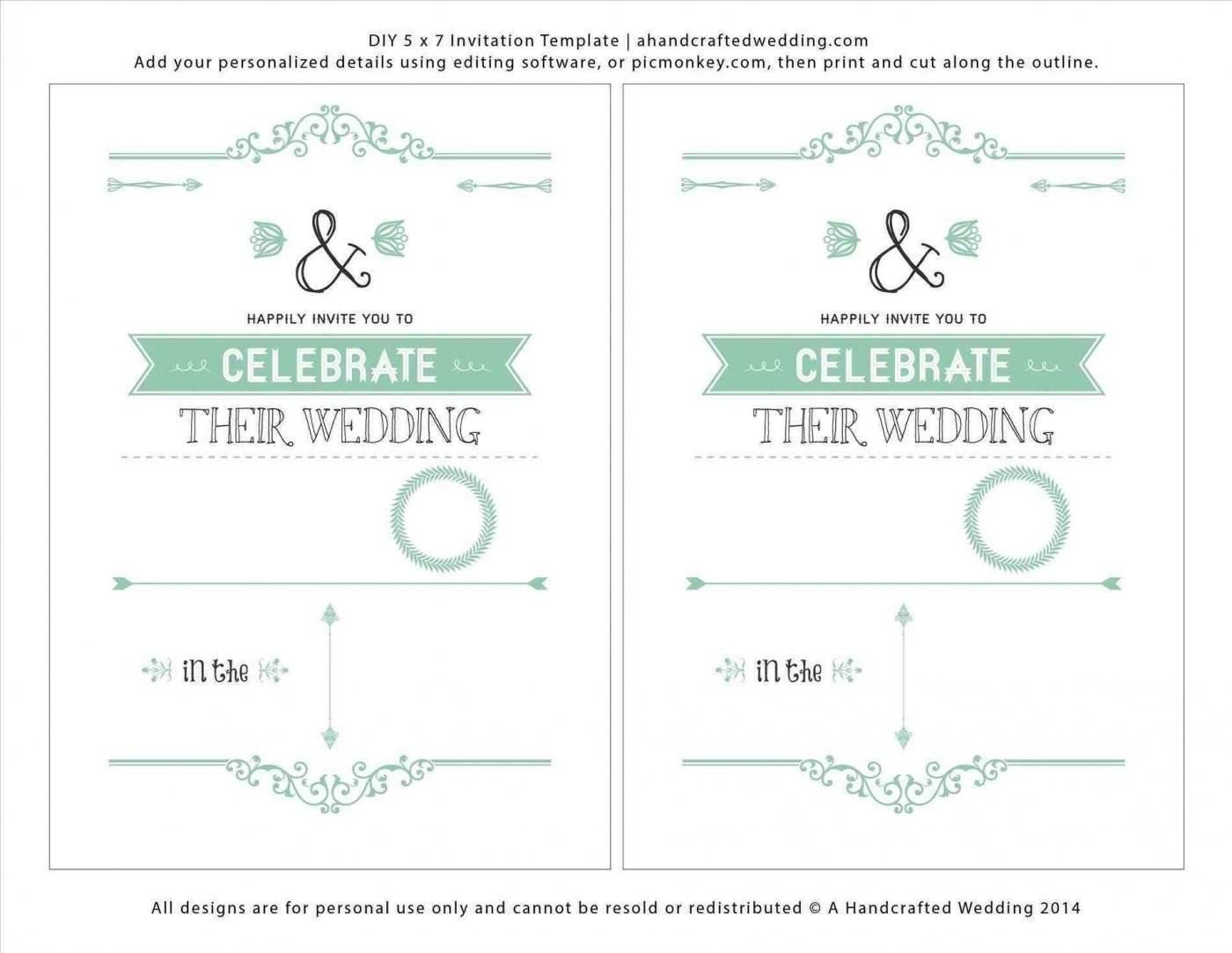 Marriage Invitation Templates Free