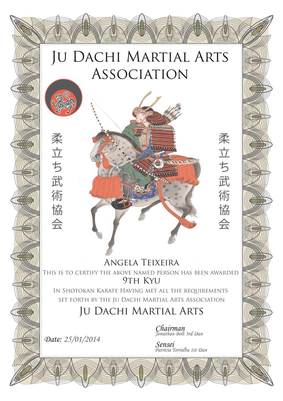 Martial Arts Certificates Templates