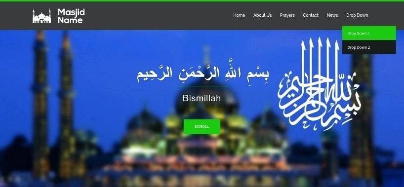 Masjid Website Template Free Download