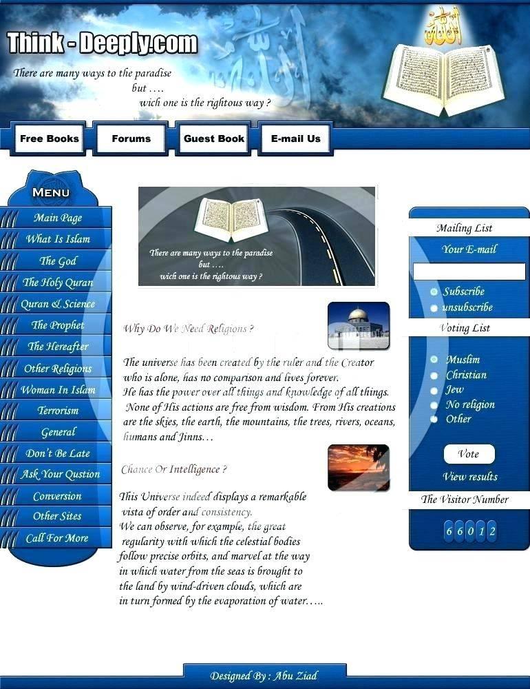 Masjid Website Template