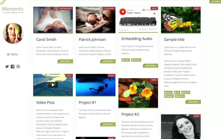 Masonry Website Template
