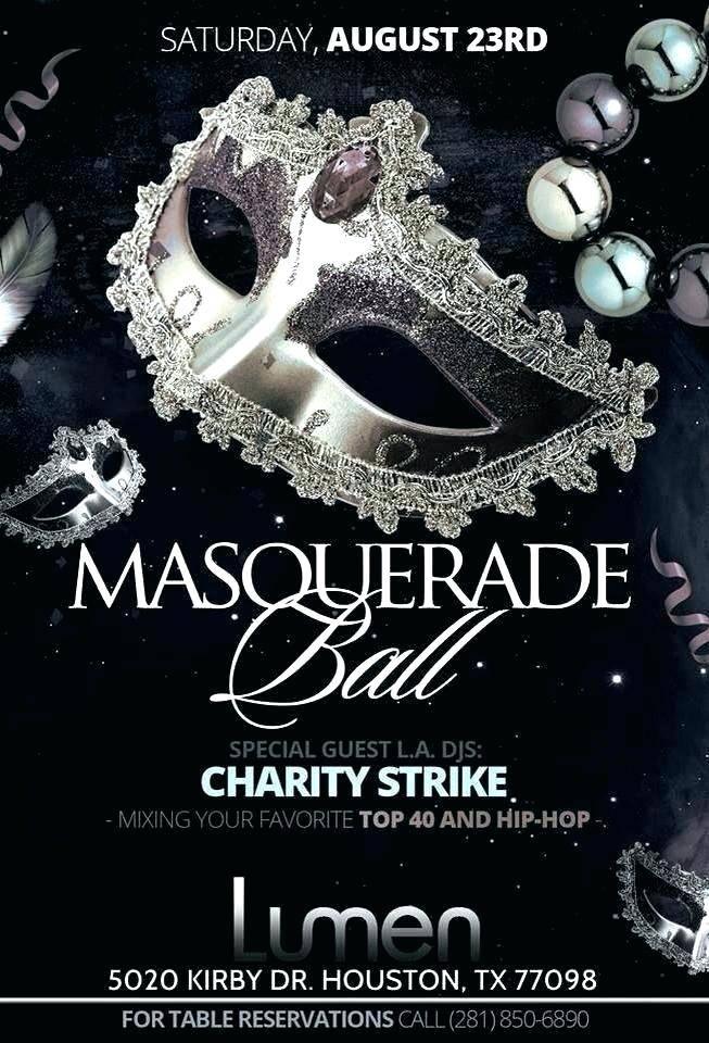 Masquerade Invitations Blank Template
