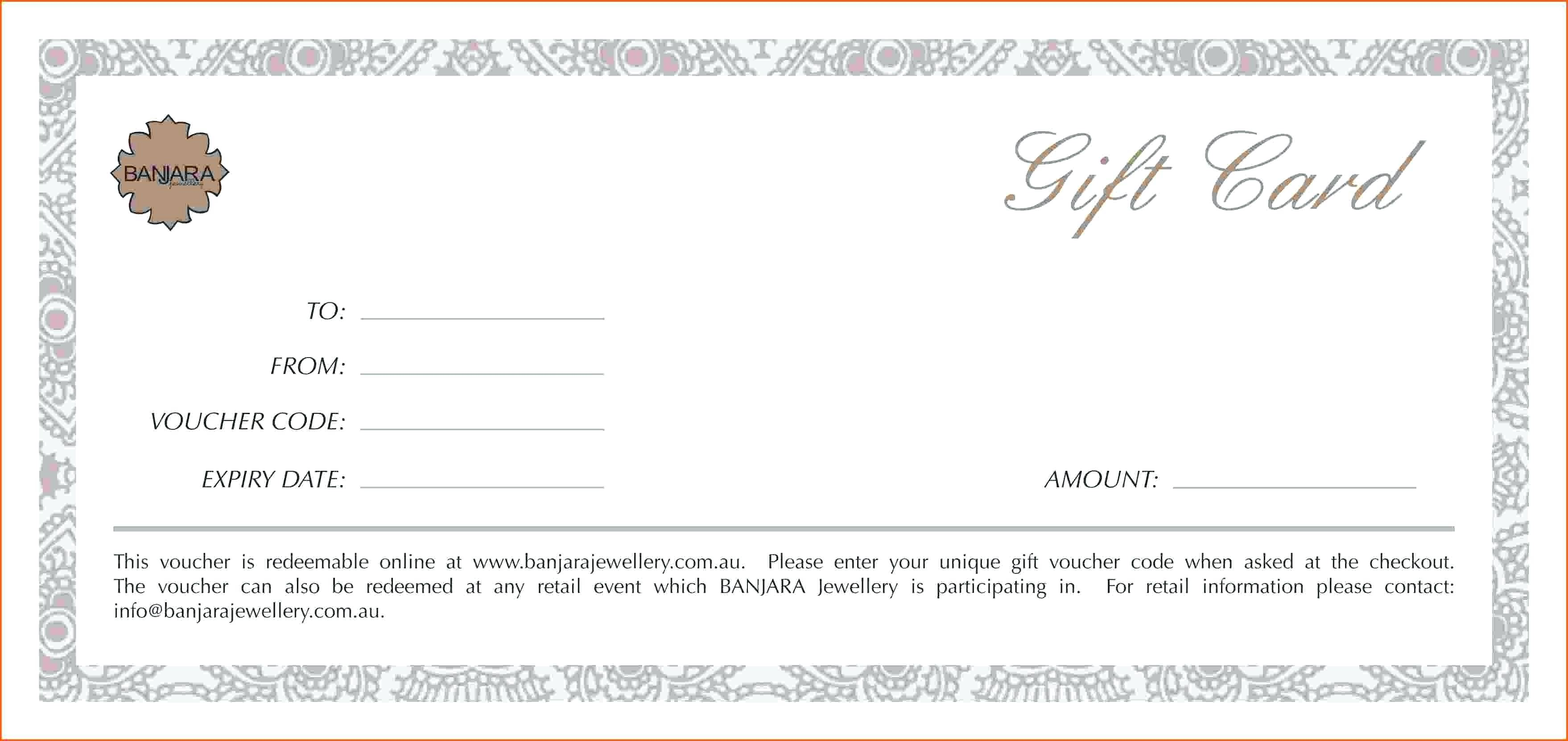 Massage Gift Certificate Template Valentines