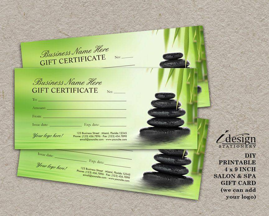Massage Gift Certificate Templates
