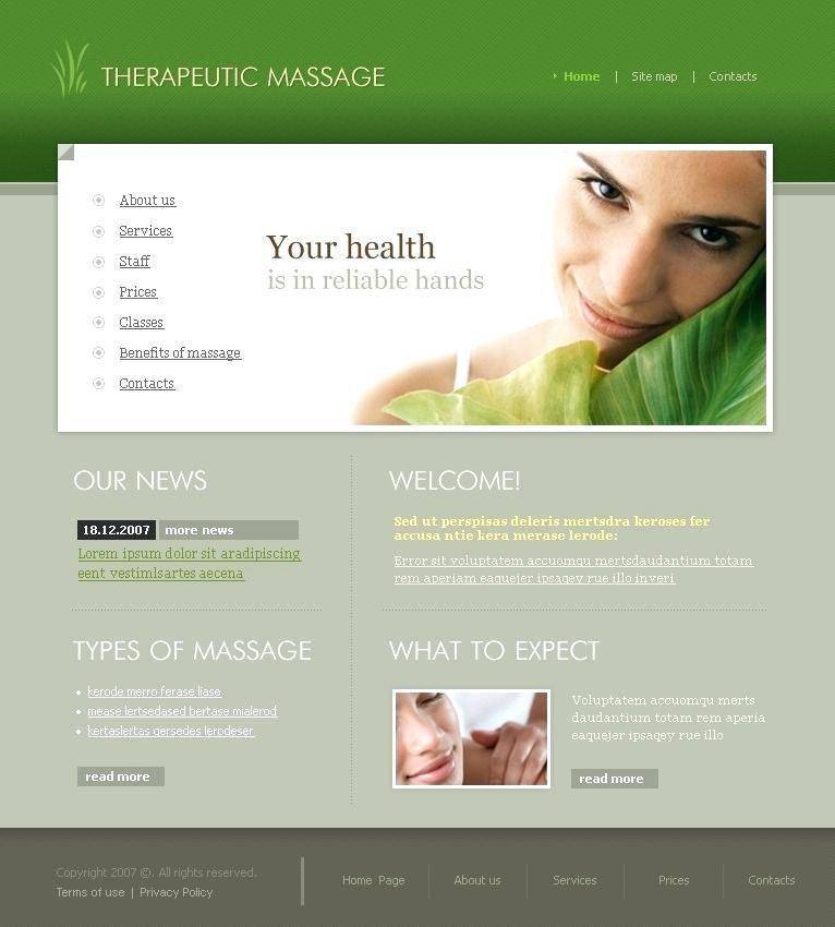 Massage Therapy Website Templates WordPress