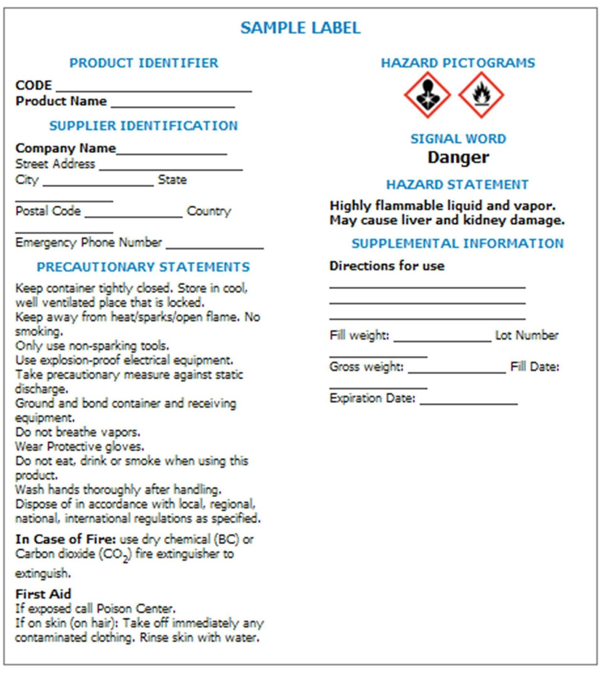 Material Safety Data Sheet Format
