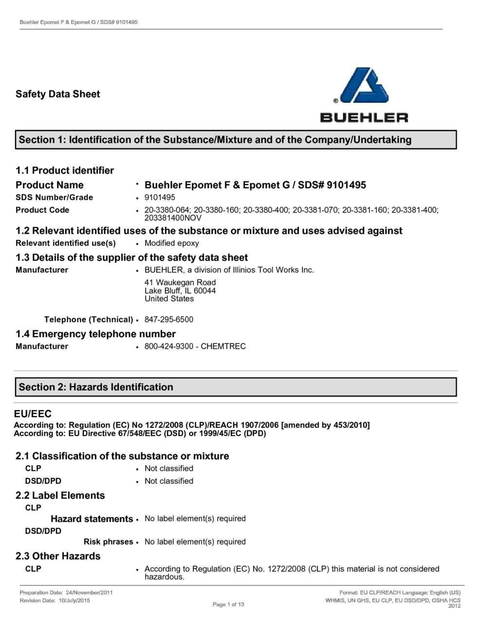 Material Safety Data Sheet Template Australia