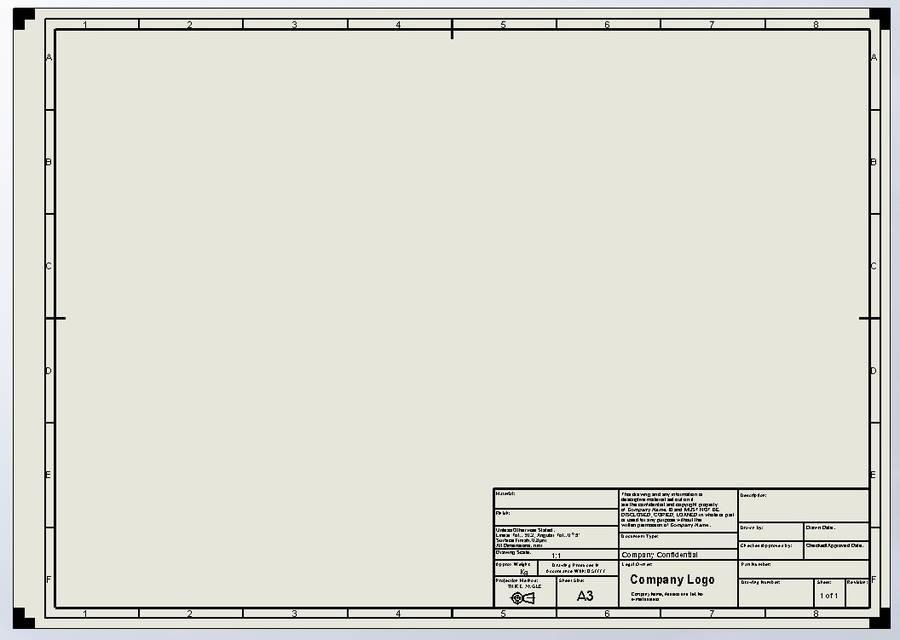 Mechanical Drawing Template Standard