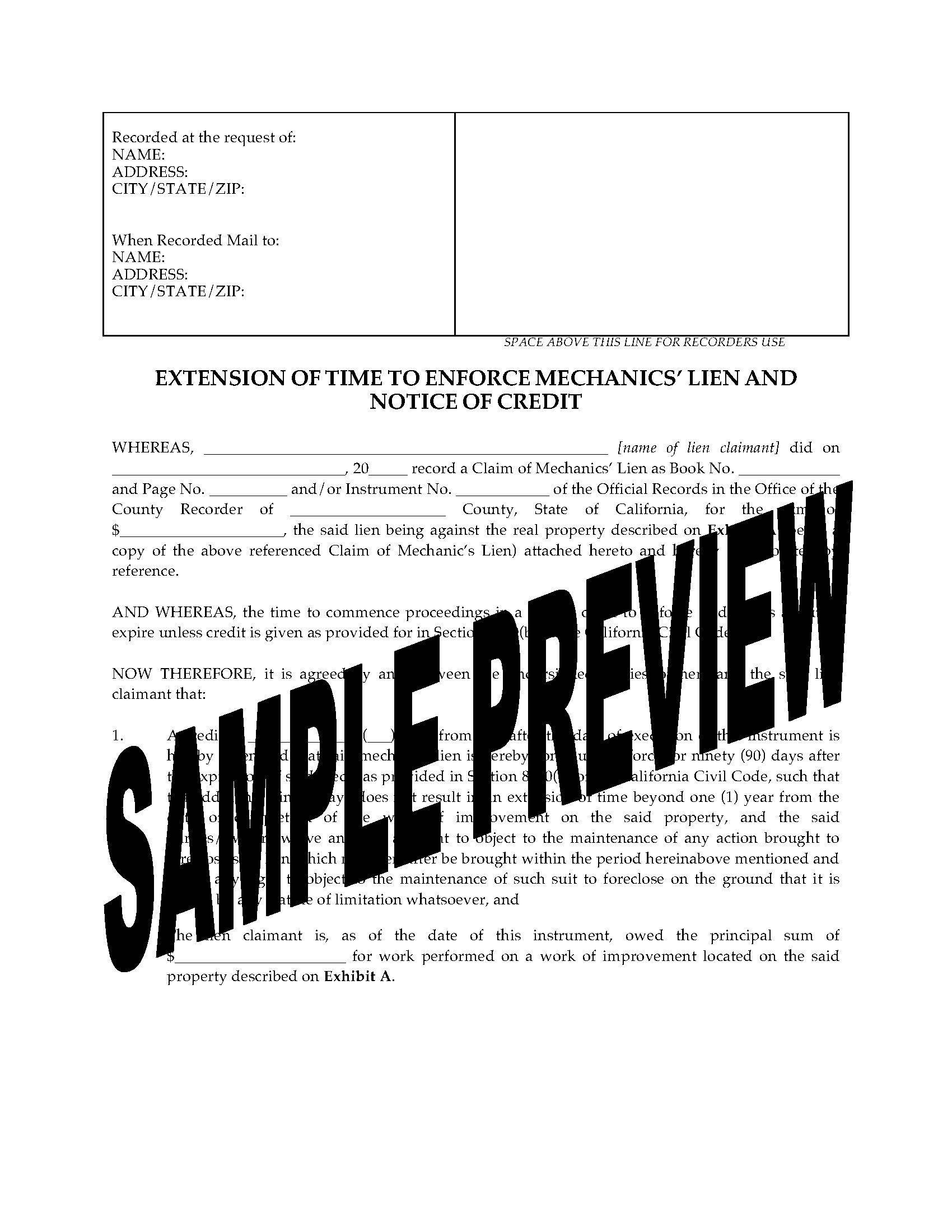 Mechanics Lien Form Ct