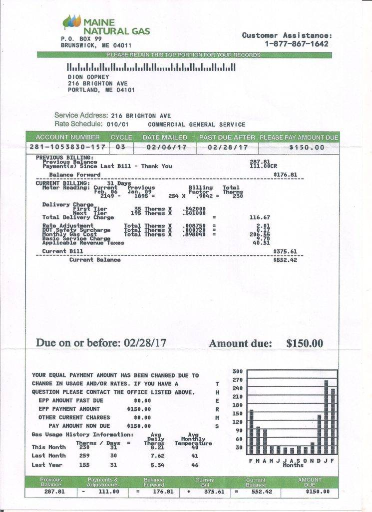 Medical Bill Statement Template