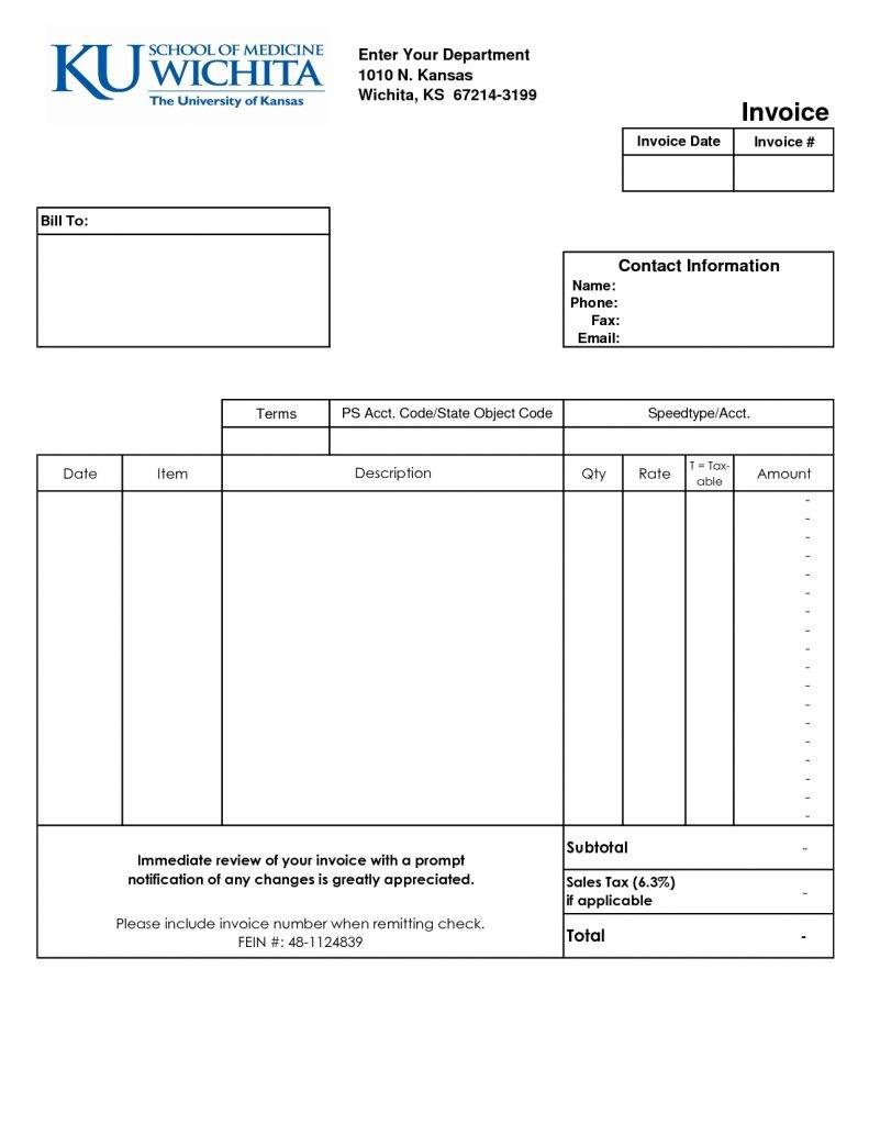 Medical Invoice Format India