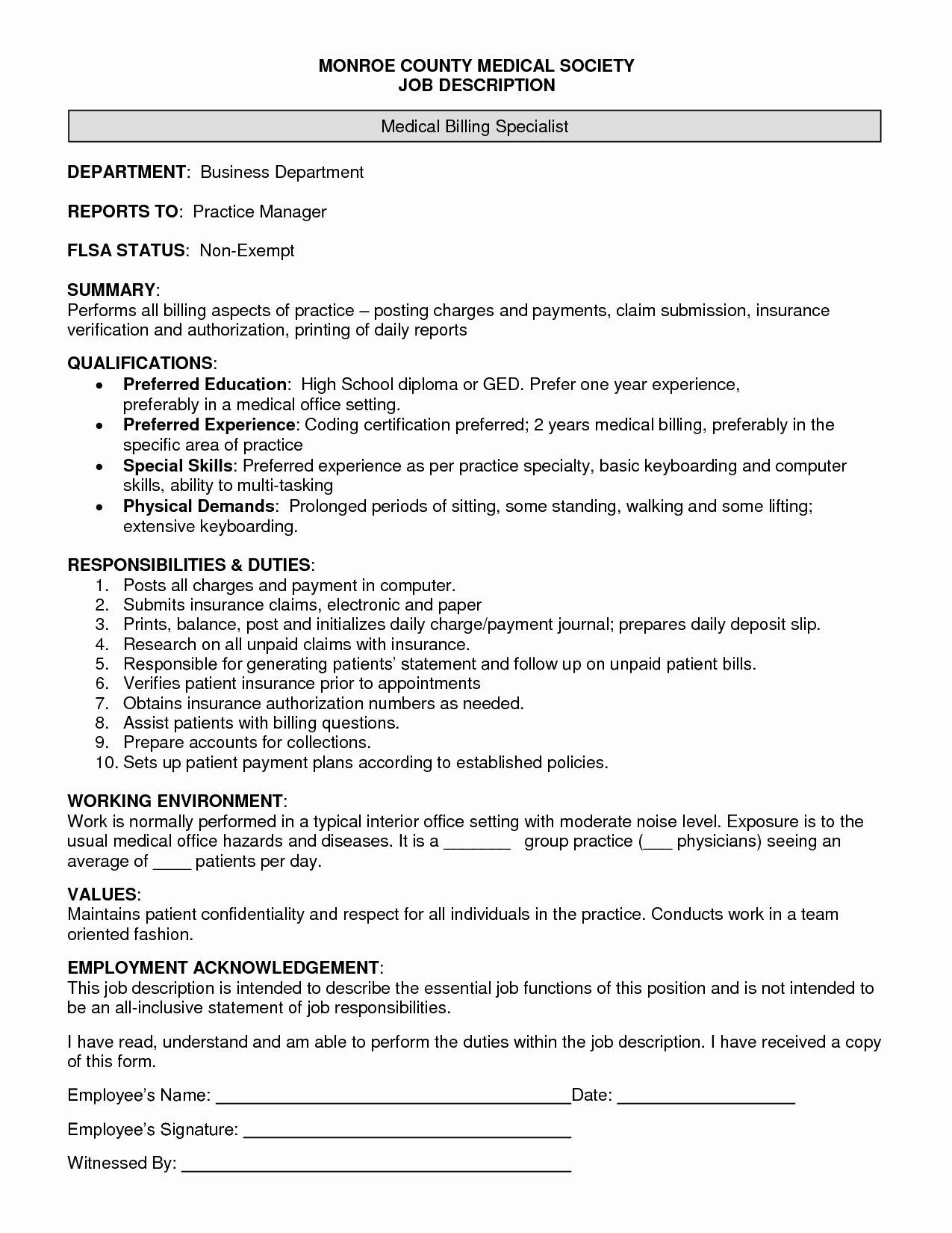 Medical Job Resume Templates