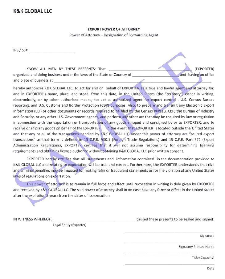 Medical Power Of Attorney Template California