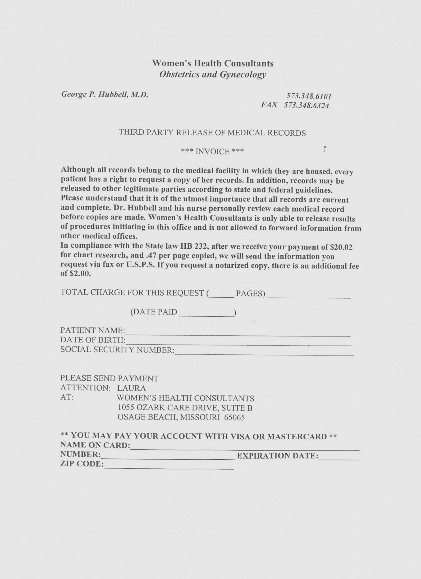 Medical Records Release Form Texas Template