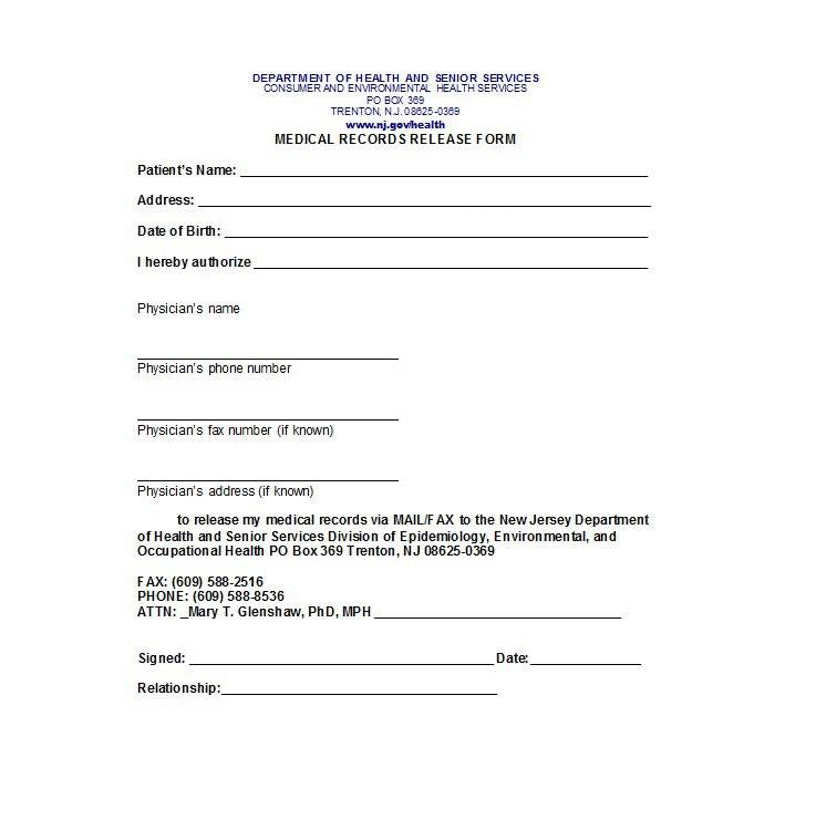 Medical Waiver Template