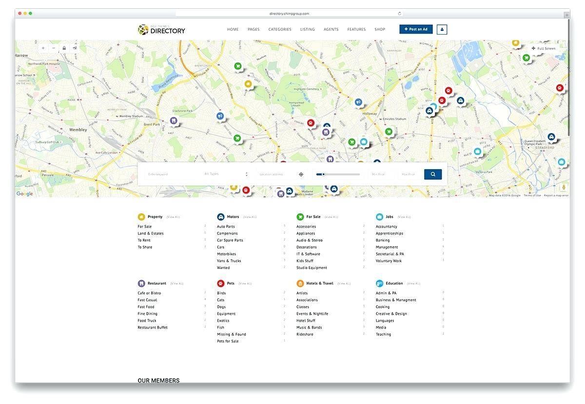 Membership Directory Website Template