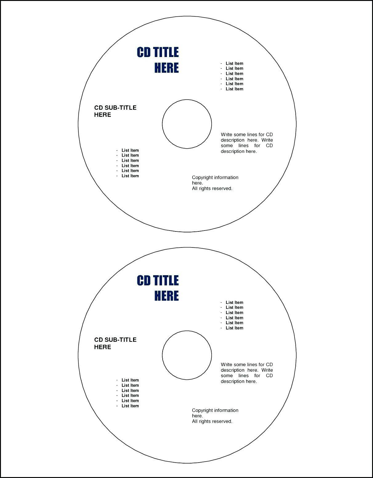 Memorex Cd Labels Template Photoshop