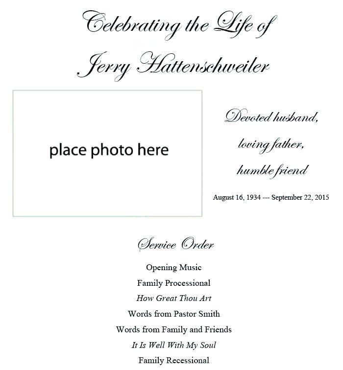 Memorial Celebration Invitation Template