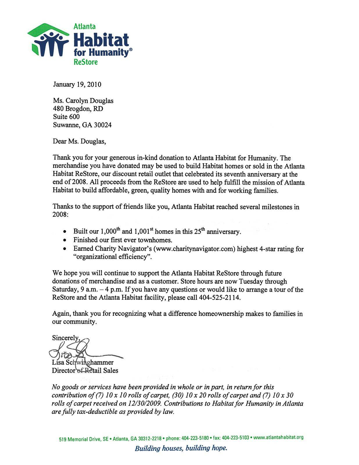 Memorial Contribution Letter Template