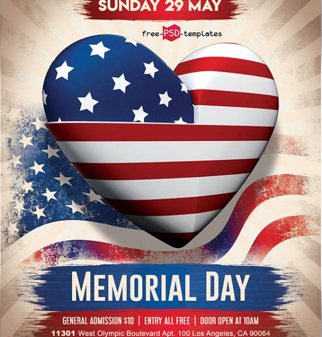 Memorial Flyer Template Free