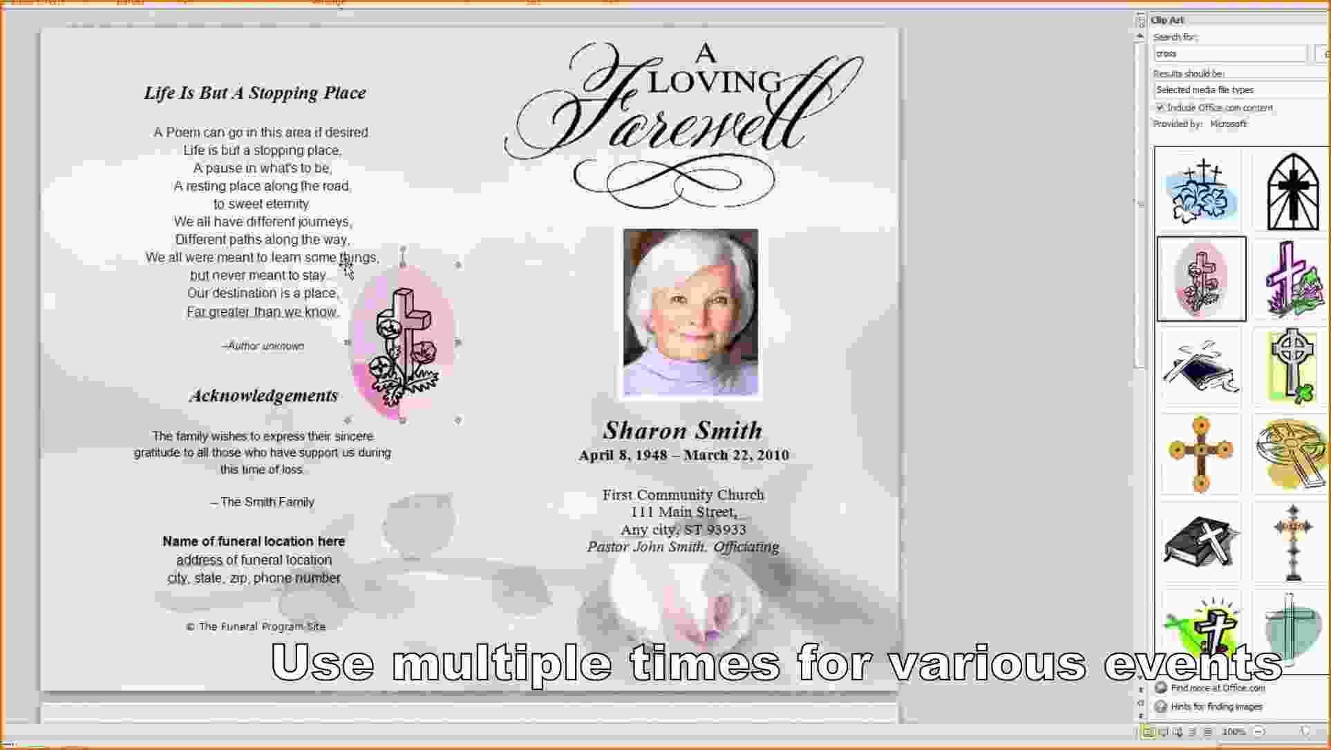 Memorial Program Template Word Free
