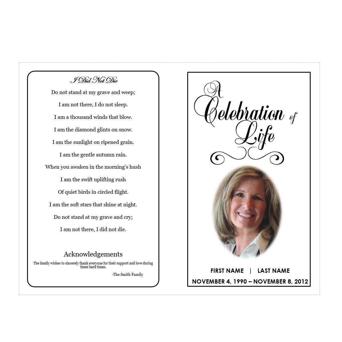 Memorial Service Brochure Template
