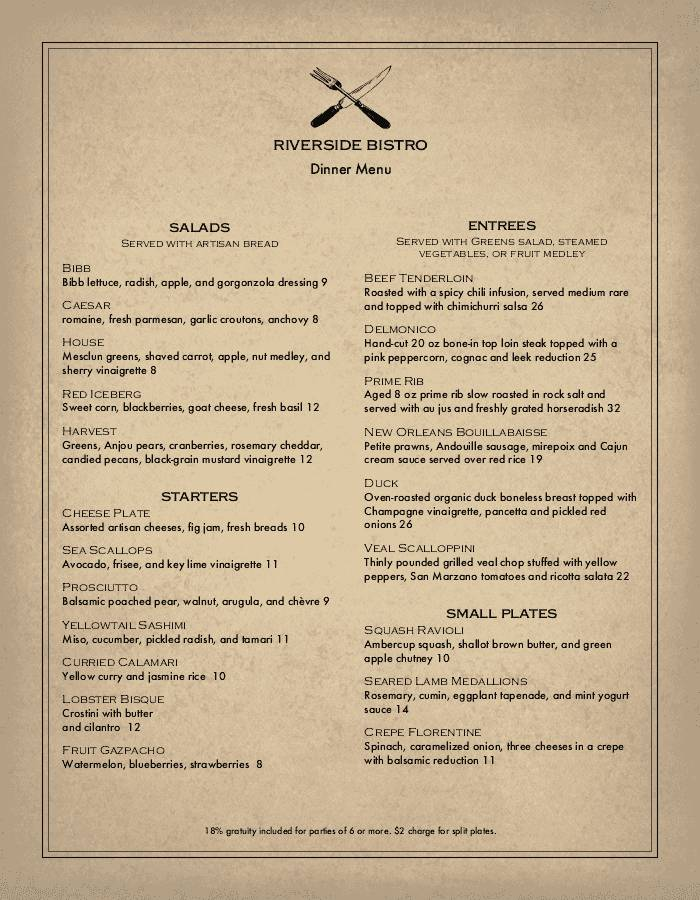 Menu Designs Templates