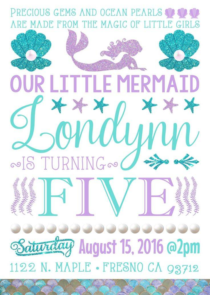 Mermaid Party Invitation Free Template